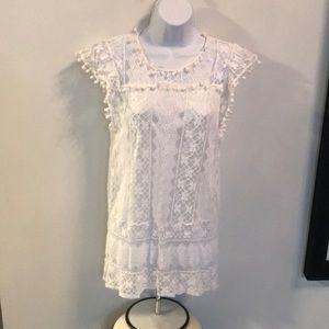 Dresses & Skirts - Lace dress of long shirt